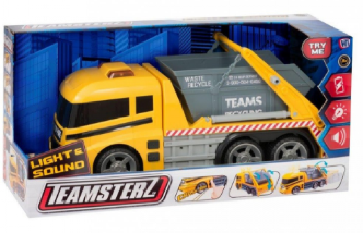 Teamsterz Light & Sound Skip Lorry Truck 1416394.00 (Parcel Rate)