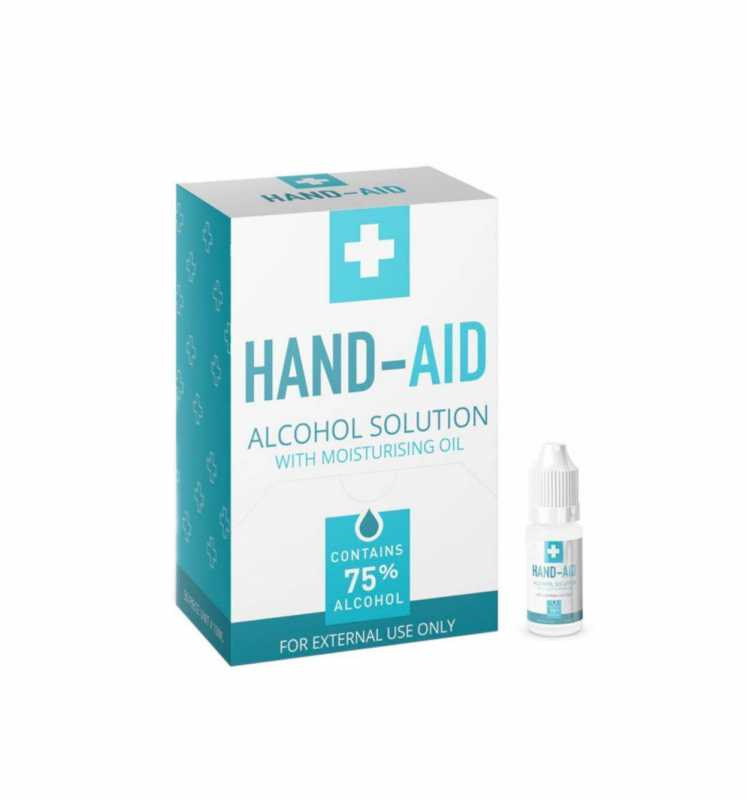 Hand Aid Alcohol Solution With Moisturising Oil 75% Alcohol External Use 10ml 9191 (Large Letter Rate)