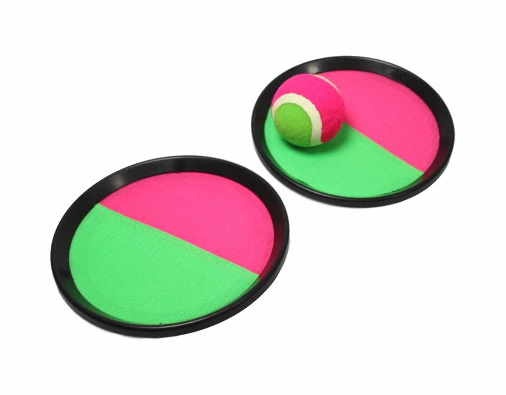 Outdoor Indoor Frisbee Playing Set With Ball Pink Green 18.5cm 5731 (Parcel Rate)