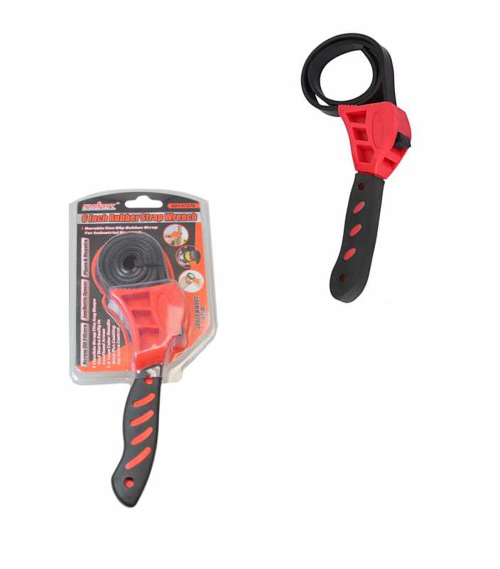 6 Inch Rubber Strap Wrench Industrial Use DIY Builders Rubber Wrench 6558 (Parcel Rate)