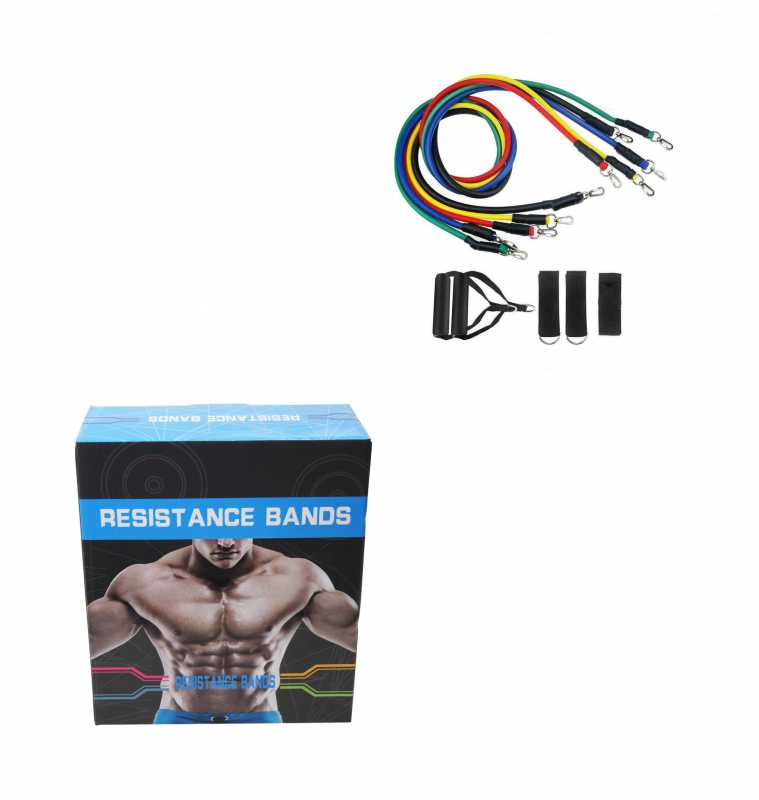 Resistance Exercise Bands Workout Yoga Fitness Crossfit Training Home 6571 (Parcel Rate)