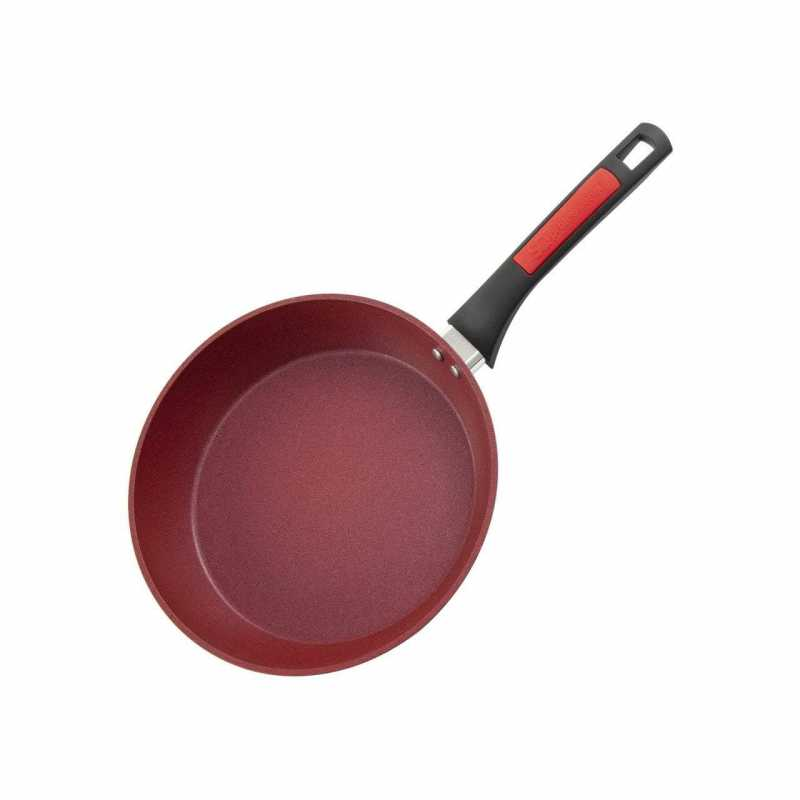 Nea Marbell Frying Pan RED With Handle Kitchen Cooking Pan 28cm 8875 (Parcel Rate)