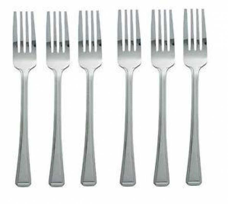 Stainless Steel Kitchen Fork Dining Cuisine Cutlery Dinner Party 6 Pack 18cm 4048 (Large Letter Rate)