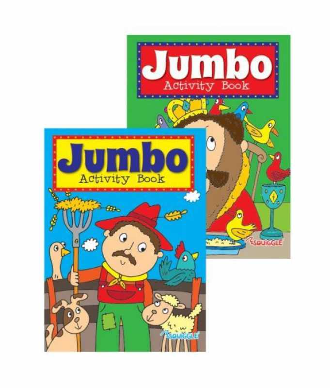 Jumbo Childrens Activity Home Book Fun Theme Girls Boy 2 Designs P2172 (Large Letter Rate)