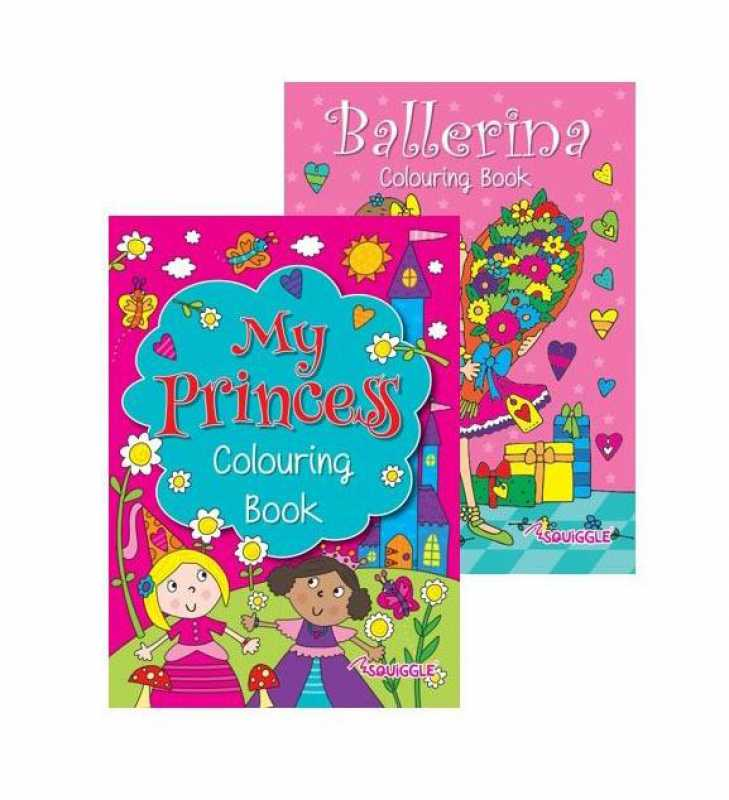 Ballerina & Princess Colouring Book Art and Crafts Girls Fun Book x 1 P2808 (Large Letter Rate)